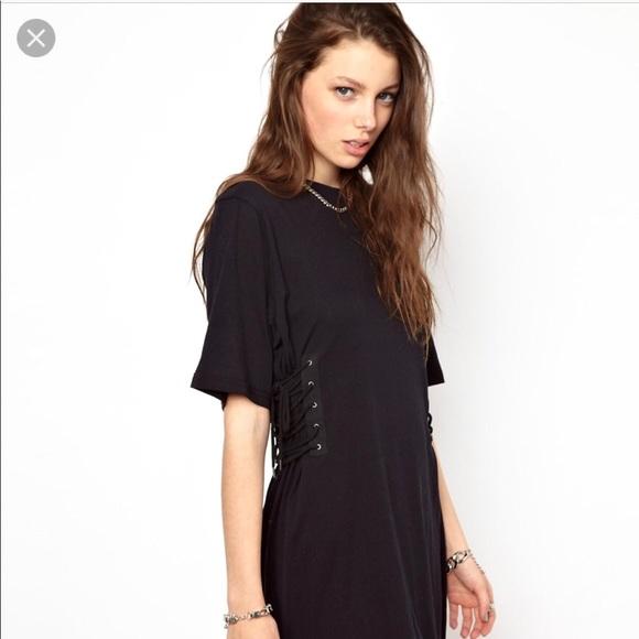 331133dc30c65 Cheap Monday Dresses | Mini T Shirt Dress Side Lace Up | Poshmark